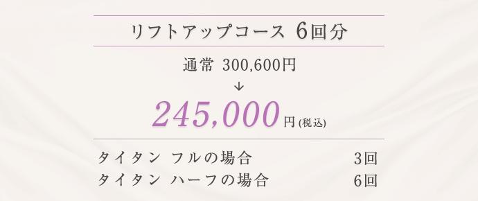 リフトアップコース 245,000円(税込)