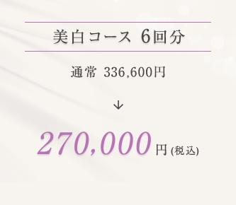 美白コース 270,000円(税込)