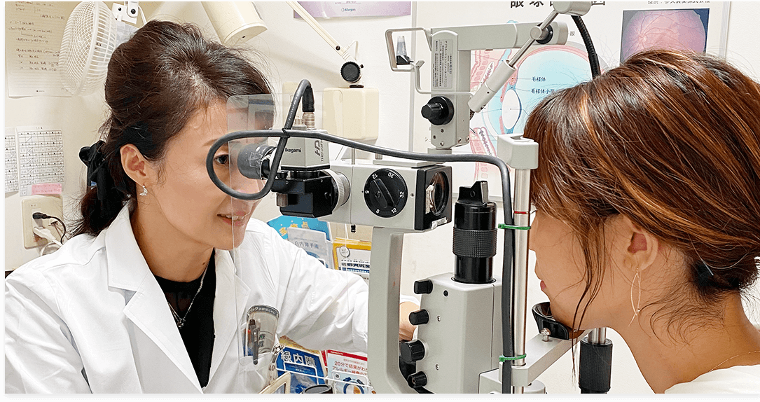 緑内障・白内障など幅広く診察。オルソケラトロジー・子供の近視抑制治療も行っています。レーシックやICLも相談可能。