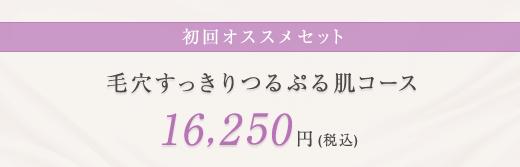 初回オススメセット 毛穴すっきりつるぷる肌コース 16,250円(税込)